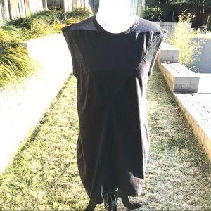 T BY ALEXANDER WANG Black Cotton Mini Dress